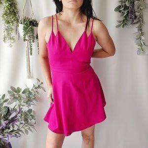 NBD x NAVEN TWINS Revolve pink skater dress New429